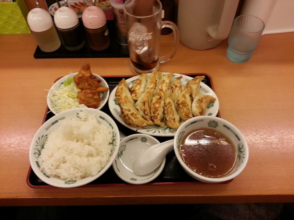 Das Gyoza Menü aus einem Grill nähe Ikebukuro Station